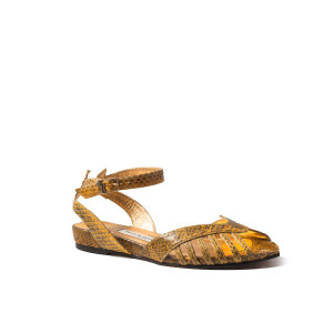 Kitty Margaux Yellow Sandal