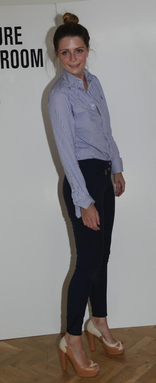 Mischa Barton wearing Swirl Block Heel - Terry de Havilland