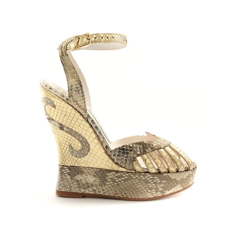 Python Margaux De HavillandDesigner Gold Shoes Luxury Terry wiOXTuPkZ