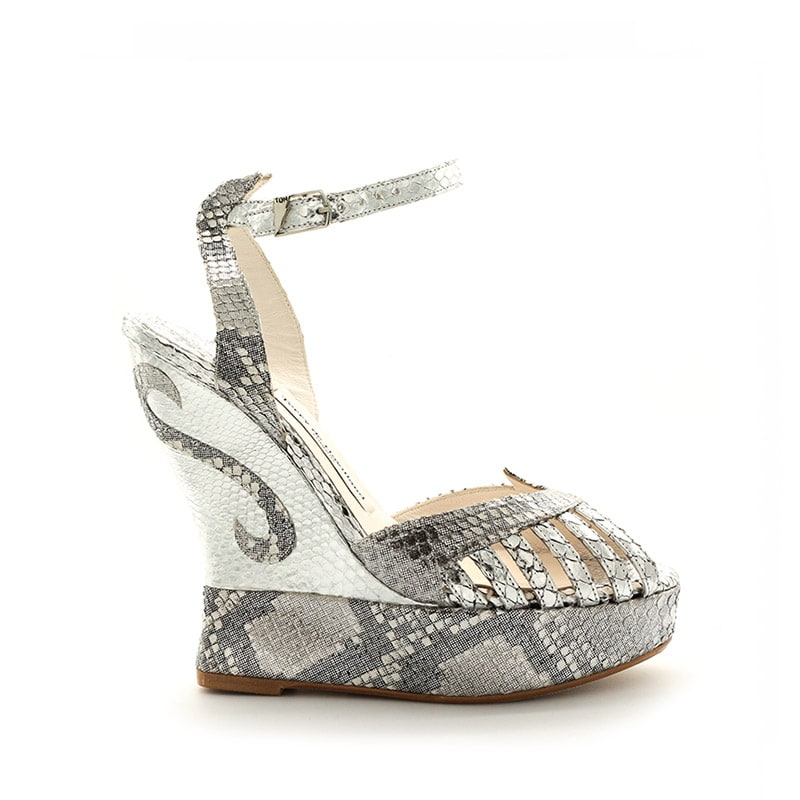 dfe057e7751e5a margaux silver python wedge. margaux silver wedge angle