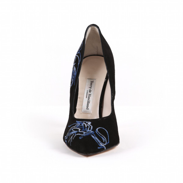 Dragon Black Blue Stiletto Heel 2