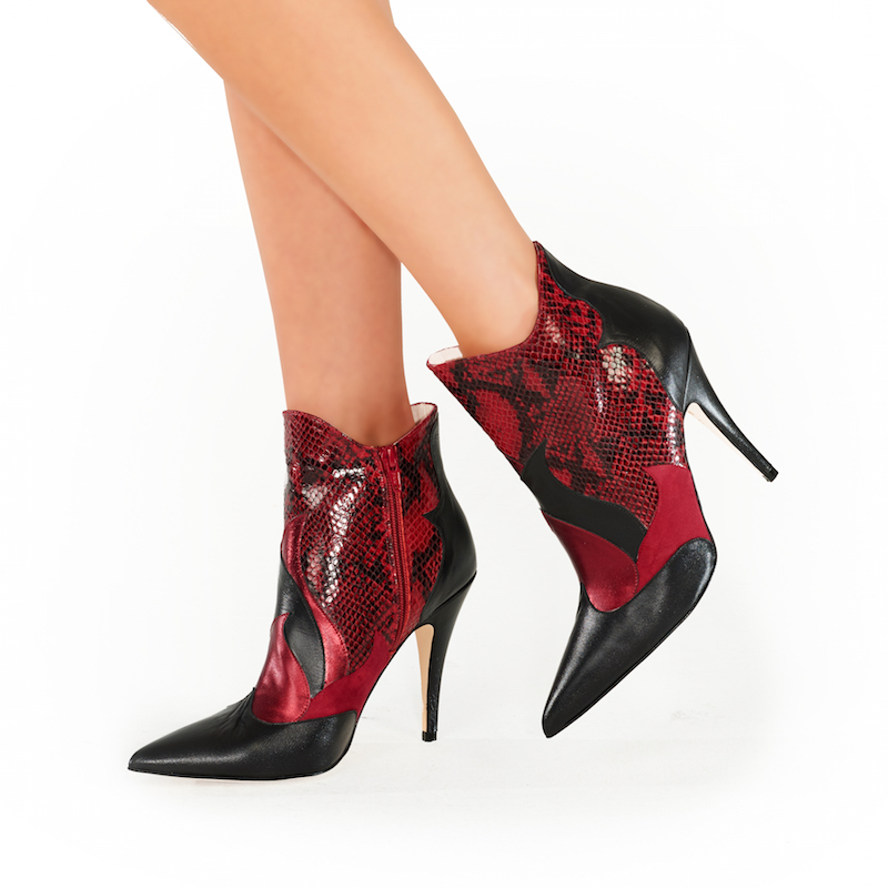 Pixie Zia Ankle Boot Red Product Image