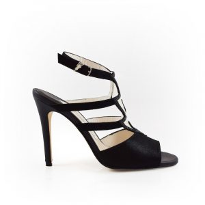 Lightning Black Sandal Stiletto Heel