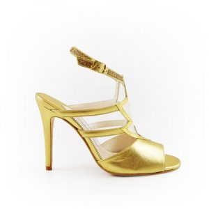 Lightning Gold Stiletto Heel