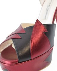 Zia Red Black Luxury Block Heel 6