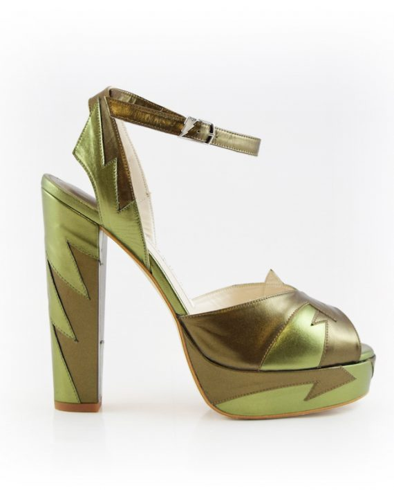 Zia Khaki Block Heel Image 1