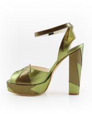 Zia Khaki Block Heel 5