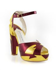 Zia Red Gold Block Heel Image 2