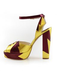 Zia Red Gold Block Heel Image 3