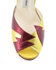 Zia Red Gold Block Heel Image 5
