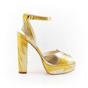 Zia Soft Gold Block Heel Image 1