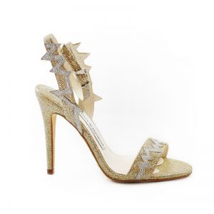 Heartbeat Gold Stiletto Heel