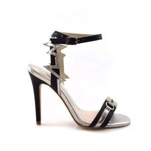 Heartbeat Razor Black Stiletto Heel