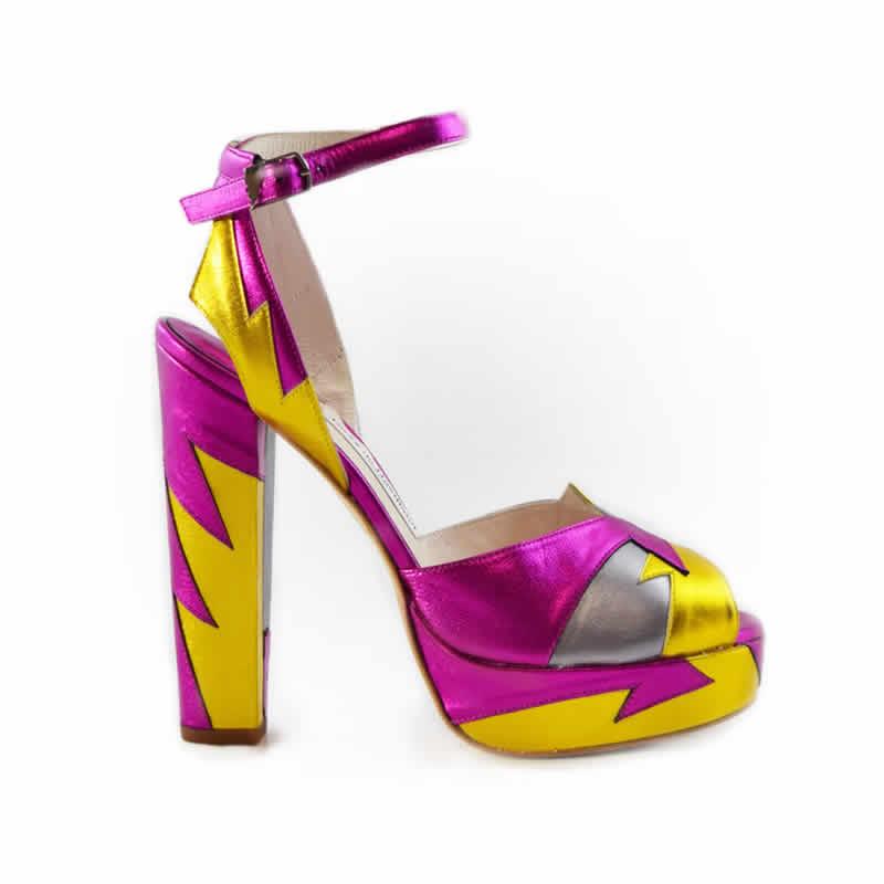 Zia Pink/Yellow - Terry de Havilland | Designer Luxury Shoes & Bags