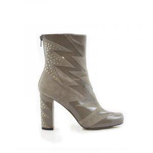 Grey stud shard boot