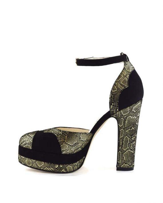 Lily mamba block heel 4