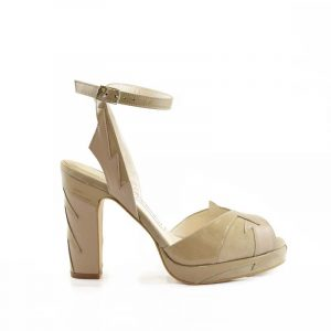 Zia low nude block heel