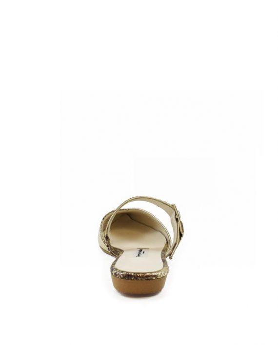 Daisy gold flat mule sandal