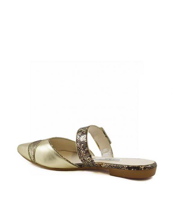 Daisy gold mule sandal