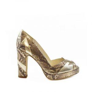 Eva Gold block heel