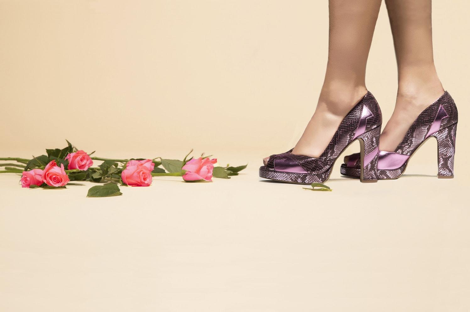 pink eva block heel