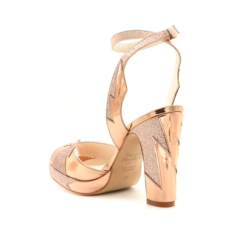 d2f32779221a rose gold block heel - Terry de Havilland
